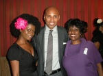 Filmmaker Olu Gittens (r) with Model/Actress Kenya Brome and Blackhouse Chairman Brickson Diamond