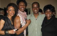 Aaron Ingram (2nd from right) with Celia Peters, Bill Johnson and Olu Gittens