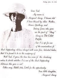 Margaret Avery letter to God