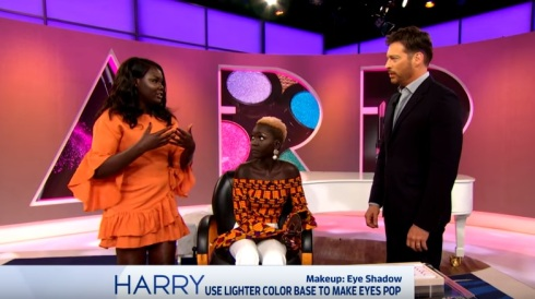 Harry show - Nyma explains eye shadow